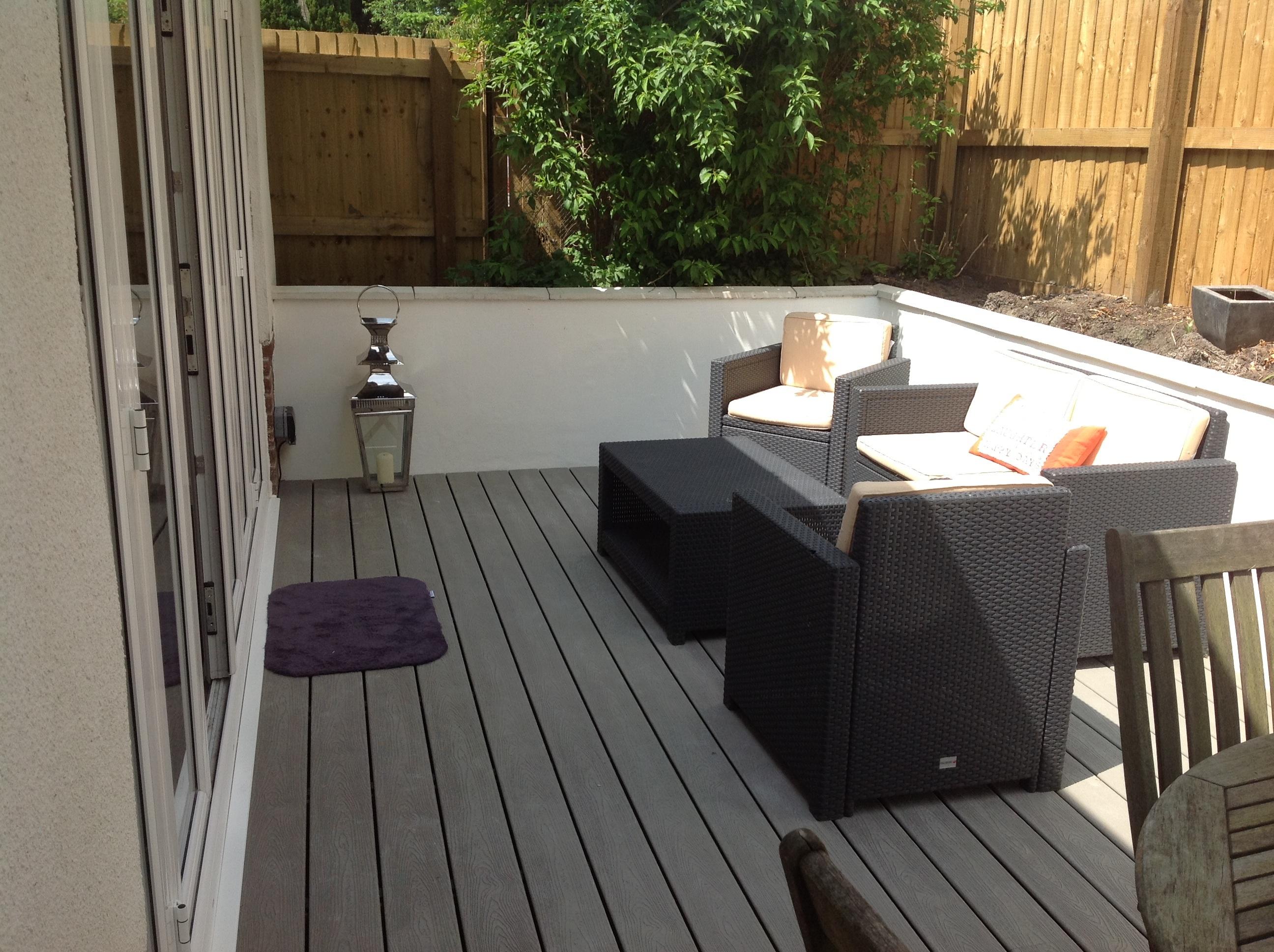Decking gardens kevin hiley construction for Garden decking examples